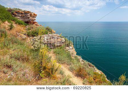Rocky Cliff On Kaliakra Headland, Bulgarian Black Sea Coast