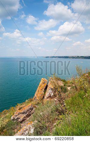 Red Rocks On Kaliakra Headland, Bulgarian Black Sea Coast