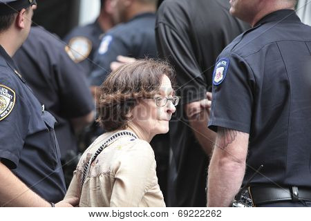 Female activist in NYPD custody