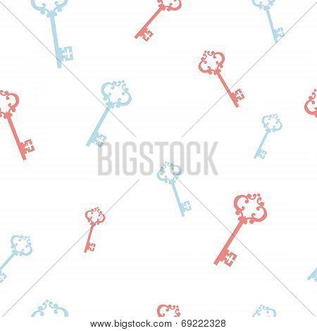 keys on a white seamless background