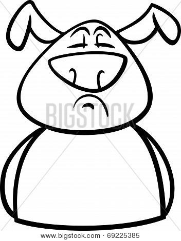 Proud Dog Cartoon Coloring Page