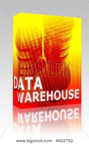 Data Warehouse Illustration Box Package