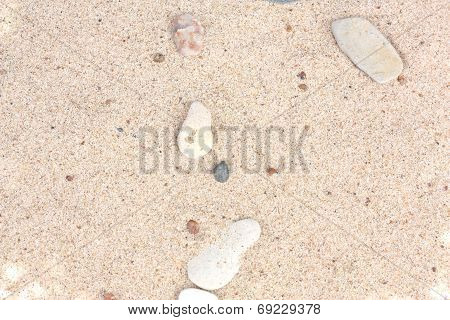 Sand Texture Background With Stones