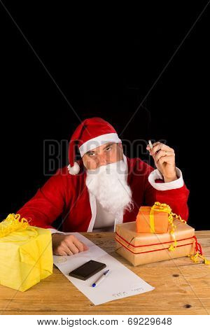 Santa Having A Fag