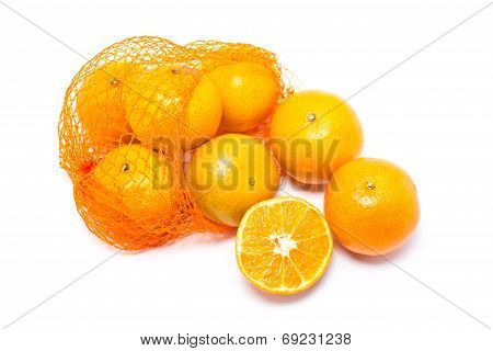 Oranges In Plastic Orange Net