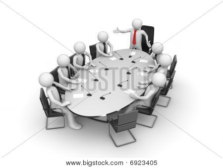 Corporate Meeting In Conference Room