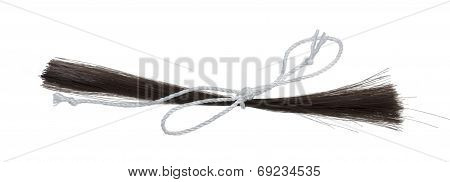 Hair Clipping Tied With String