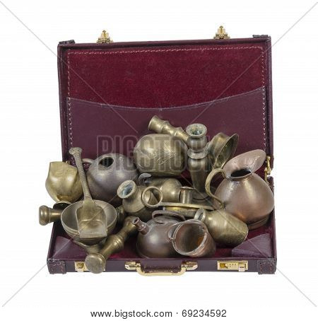 Junk Items In Briefcase