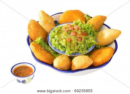Colombian cuisine. Empanadas.