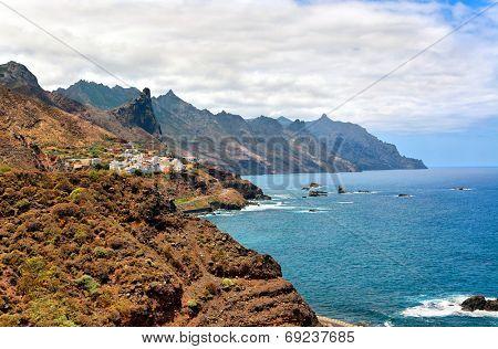 Rocky Atlantic ocean coast near Benijo, Tenerife, Canary islands, Spain