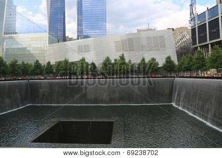 Waterfall in September 11 Memorial Park