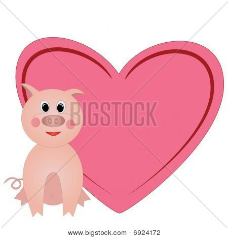 valentine with heart with room for text