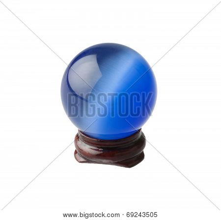 The blue crystal magic ball