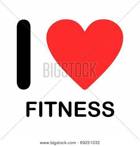 Font Type Illustration - I Love Fitness