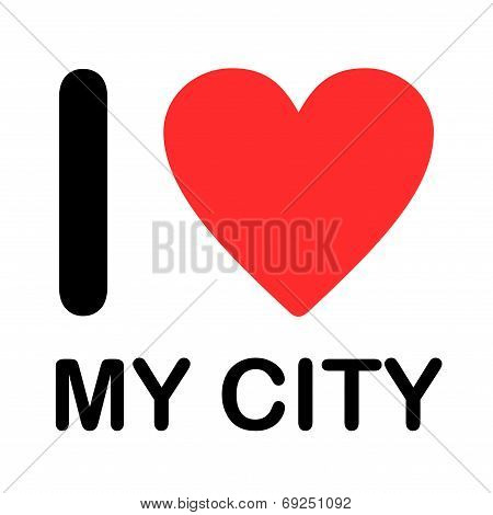 Font Type Illustration - I Love My City