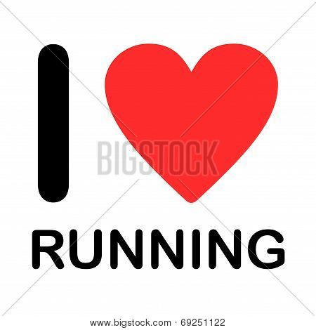 Font Type Illustration - I Love Running