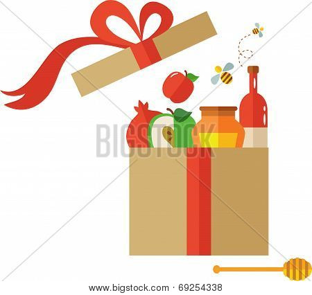 open present box for Rosh Hashanah