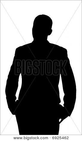 Annoyed Man Silhouette