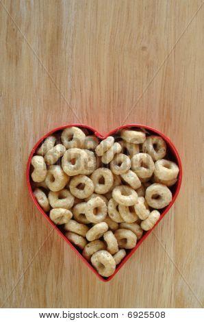 Amor que torrado cereais de aveia