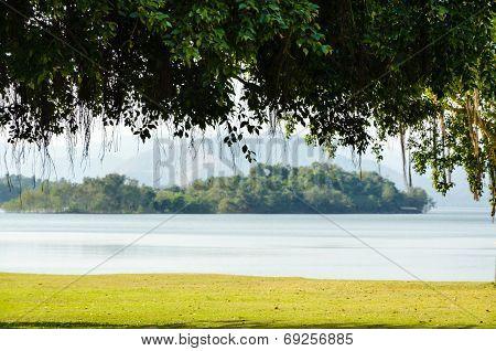 Landscaped Lawns For Leisure On A Kaeng Kra Chan Lake