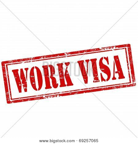 Work Visa-stamp