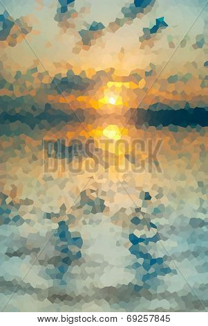 Sunset Stained Glass Mosaic
