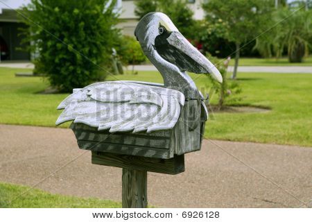 Pelican Mail Post Wooden Mailbox In Texas