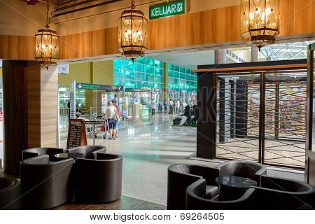 LANGKAWI - MAY 01: cafe interior in airport on May 01, 2014 in Langkawi, Malaysia. Langkawi International Airport is situated on the duty-free island of Langkawi in the state of Kedah in Malaysia