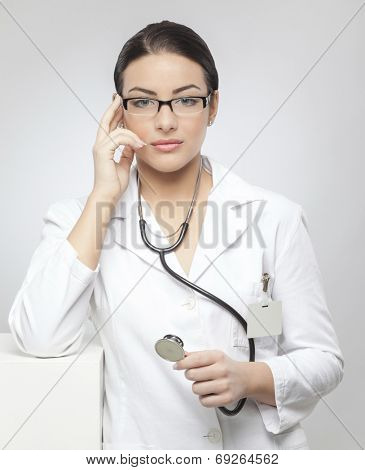 Young, nice woman doctor