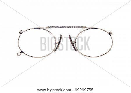Isolated Eyeglasses Closeup On A White Background