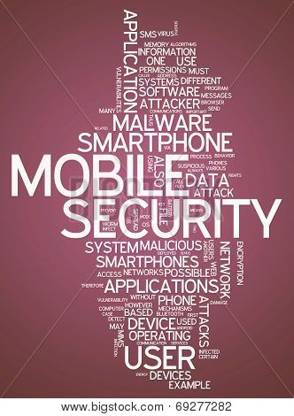 Word Cloud Mobile Security