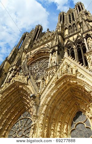 Notre-dame De Reims Cathedral, France.