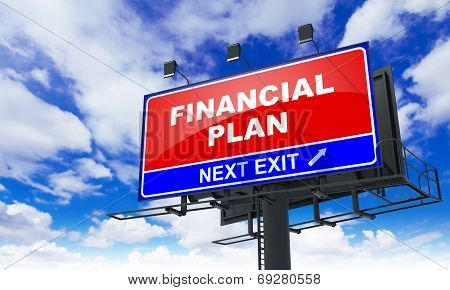 Financial Plan on Red Billboard.
