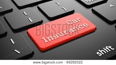 Car Insurance on Red Keyboard Button.