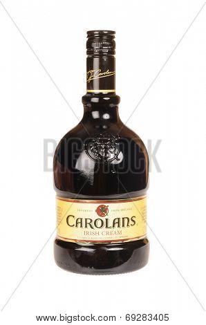 Hayward, CA - July 29, 2014: 750 ml bottle of Carolans Irish Cream a liqueur imported from Ireland