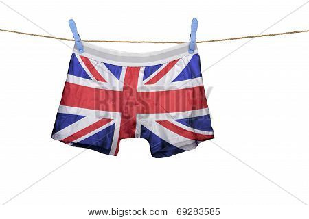 Underwear With The Uk Flag On A String