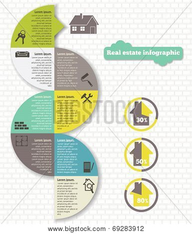 Real estate infographic set  vector illustration