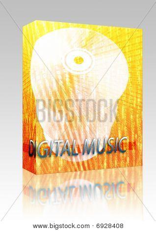 Music Digital Media Box Package