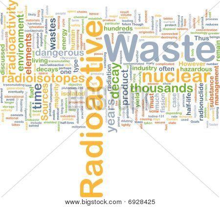 Radioactive Waste Background Concept