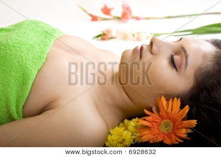 Stillstehend in spa