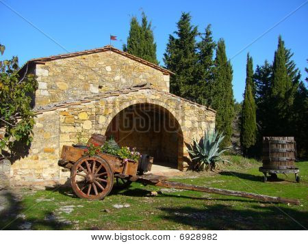 Typical Tuscan country house in Chianti