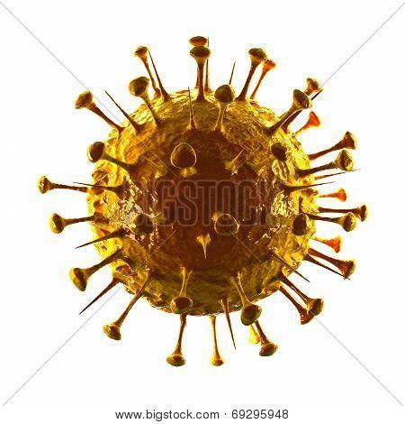 Sars Virus III - Isolated on White