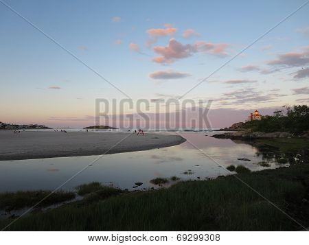 Good Harbor Beach, Gloucester, Massachusetts At Dusk