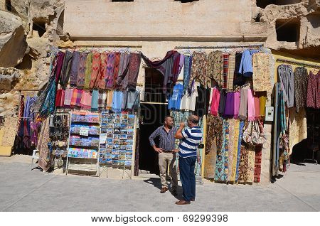 Man sells souvenirs for to live