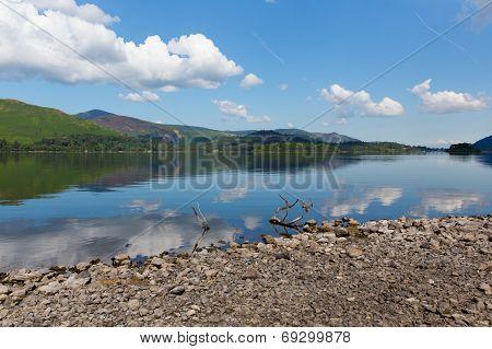 Derwent Water Lake District National Park Cumbria England uk near Keswick