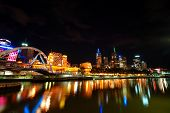 foto of cbd  - A beautiful night view of Melbourne City - JPG