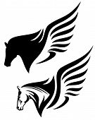 image of pegasus  - pegasus profile head design  - JPG