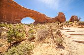 picture of turret arch  - South window in Arches National Park Utah USA - JPG