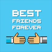 stock photo of  friends forever  - business partner or friend handshake and text Best Friends Forever - JPG