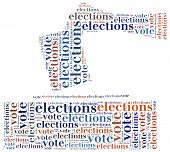 foto of minister  - Word cloud illustration related to elections or voting - JPG
